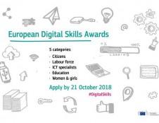Europos skaitmeninių gebėjimų apdovanojimas 2018 gali būti jūsų!