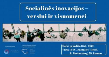 Socialinės inovacijos – verslui ir visuomenei