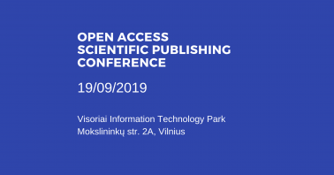 Open Access Scientific Publishing Conference 2019