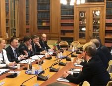 V. Šapokos susitikime su Švedijos parlamento nariais – FinTech, ES daugiametės finansinės programos klausimai
