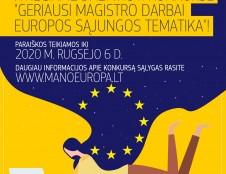 Skelbiamas geriausių magistro darbų ES tematika konkursas