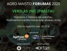 Būsimo Agro-maisto forumo 2020 pranešėjai: pandemija – ne krizė, o galimybė