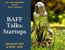 BAFF TALKS sesija - atvira startuoliams