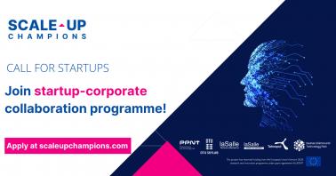 Kvietimas startuoliams vystyti inovacijas kartu su didžiosiomis Europos įmonėmis