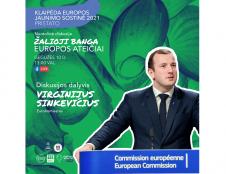 """""""Žalioji banga Europos ateičiai"""" - su eurokomisaru V.Sinkevičiumi"""