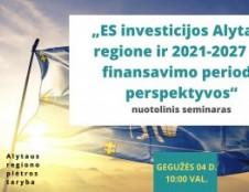 LVPA pristatė ES investicijas Alytaus apskrities bendruomenei