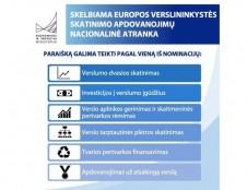 Europos verslininkystės skatinimo apdovanojimų nacionalinė atranka: pratęsiamas paraiškų teikimo terminas